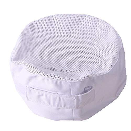 Gorro de chefs con malla transpirable y diseño de calavera ajustable - Blanco - Medium
