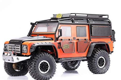GPM R/C Scale Accessories : Rear Side Window Tool Box with Table For Traxxas TRX-4 Land Rover Defender D90 D110 - 15Pc Set Black