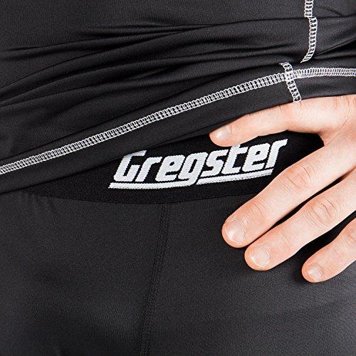 Gregster Pantalón Deporte para Hombre – Pantalón Corto de Compresión Ideal para Fitness, Ciclismo y Correr – Pantalón Corto Running