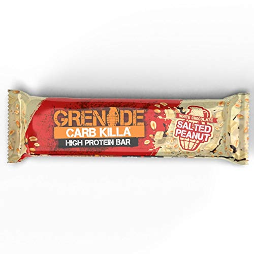Grenade Carb Killa High Protein and Low Carb Barra Sabor White Chocolate Salted Peanut - 12 Unidades