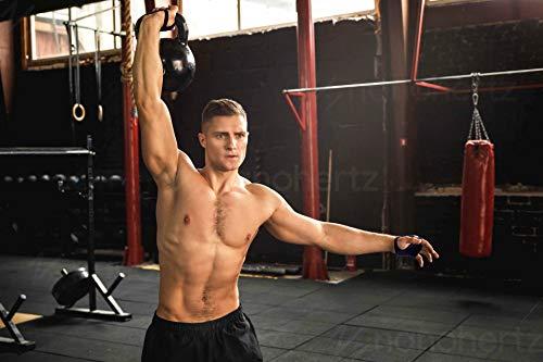 Guantes de Crossfit para Gimnasio, Calleras sin Dedos para Musculacion en Gym y Calistenia, Dominadas en Barra, Pesas, Mancuernas, Kettlebell para Mujer y Hombre