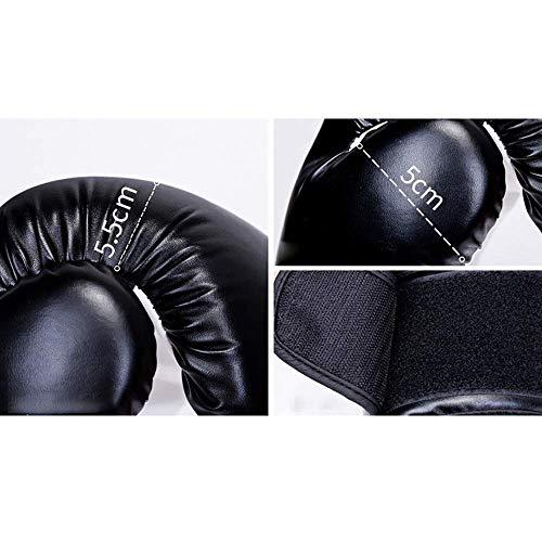 Guantes de entrenamiento de boxeo Guantes de 12oz espesado cuero de la PU for el entrenamiento del boxeo Guantes de boxeo tailandés de Muay MMA de entrenamiento de los guantes de boxeo Muay Thai Boxin