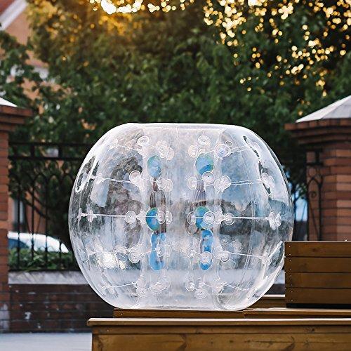 Guellin Pelota de Burbuja Bolas de Fútbol con Burbujas Bola Inflable de Zorb para los Niños y Adultos Inflatable Bumper Ball (2X1.5M)