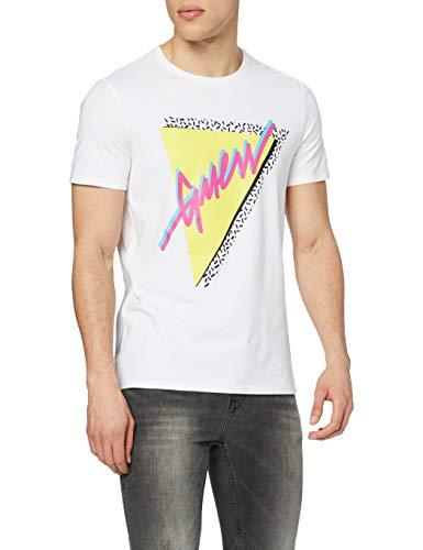 Guess Cn SS So Fresh tee Camiseta, Bianco, L para Hombre