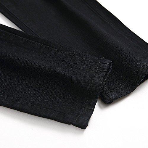Gusspower Pantalones Vaqueros Hombres Rotos Pitillo Slim Fit Skinny Pantalones Casuales Elasticos Agujero Pantalón Personalidad Jeans