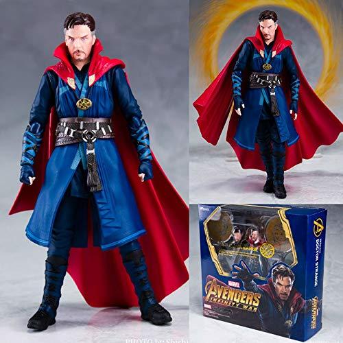 GYH Doctor Strange Double Alliance Avengers 3 Infinite War Dr. Singular PVC Modelo de Juguete para niños Muñeca Modelo de Mano Alto 15 cm (#)''