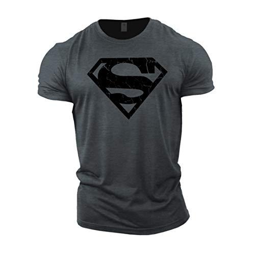 GYMTIER Camiseta Culturismo Hombre - Superhero Vascular - Top Entrenamiento Gimnasio