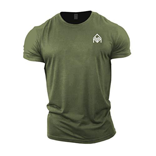 GYMTIER Camiseta Gimnasia | Entrenamiento Musculación Hombre Top Ropa Plain