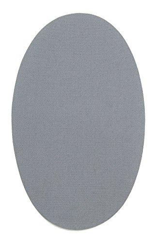 Haberdashery Online 6 Rodilleras Color Gris Claro termoadhesivas de Plancha. Coderas para Proteger tu Ropa y reparación de Pantalones, Chaquetas, Jerseys, Camisas. 16 x 10 cm. RP12C