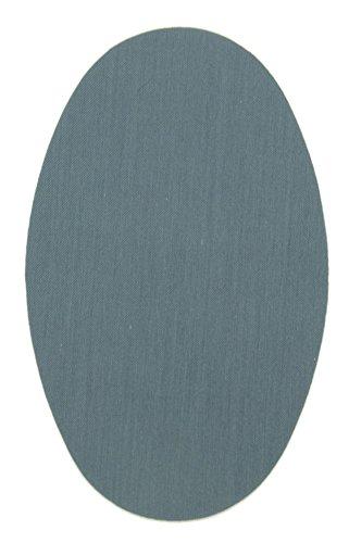 Haberdashery Online 6 Rodilleras Color Gris Medio termoadhesivas de Plancha. Coderas para Proteger tu Ropa y reparación de Pantalones, Chaquetas, Jerseys, Camisas. 16 x 10 cm. RP12