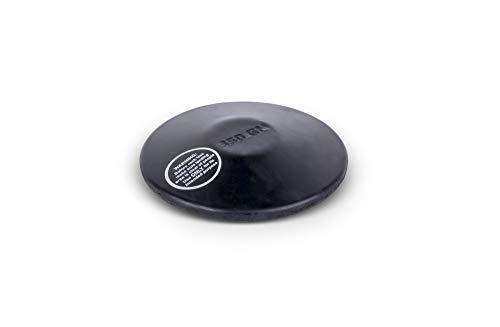 HAEST VINEX Disco de Entrenamiento de Caucho Negro – 0,35 kg – Lanzamiento de Disco
