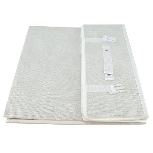 Hangerworld Caja de Ordenación 50x80x20cm Transpirable con Tapa Protege tu Traje de Novia Blanco