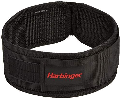 Harbinger 4 Inch Nylon Belt, Hombre, Negro-Negro/Negro, Medium