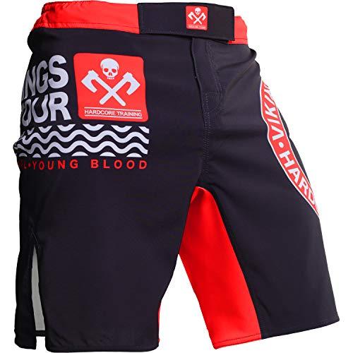 Hardcore Training Vikings On Tour Fight Shorts Hombre Pantalones Cortos MMA BJJ Boxeo Grappling Fitness No Gi