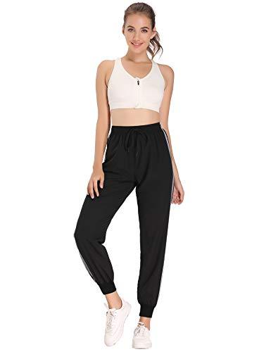 Hawiton Pantalon Chandal Mujer Largos Pantalones de Deporte Secado Rápido Pantalones Deportivos Yoga Fitness Jogger