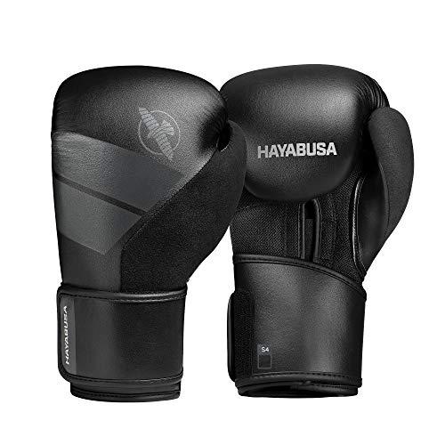 Hayabusa S4 - Guantes de boxeo, color negro, 12 onzas