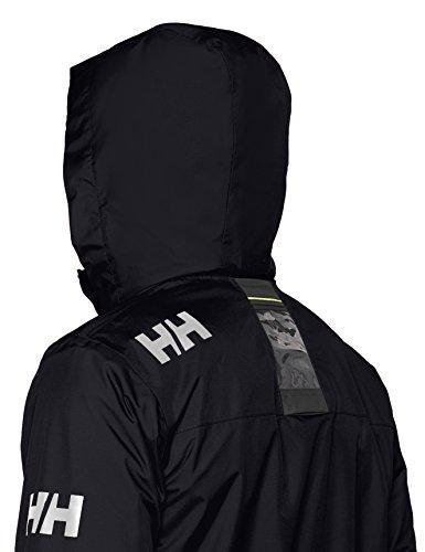 Helly Hansen Crew Hooded Midlayer - Chaqueta Impermeable, Cortavientos y Transpirable, con Forro Polar y Capucha Integrados, Hombre, Azul (597 Navy), M
