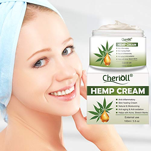 Hemp Cream, Crema De Cáñamo, Bálsamo de cáñamo, Gel De Cáñamo,Crema de cáñamo, hidratante antiarrugas crema, facial nutritiva aceite de semilla de cáñamo Antiinflamatorio, Anti-acné