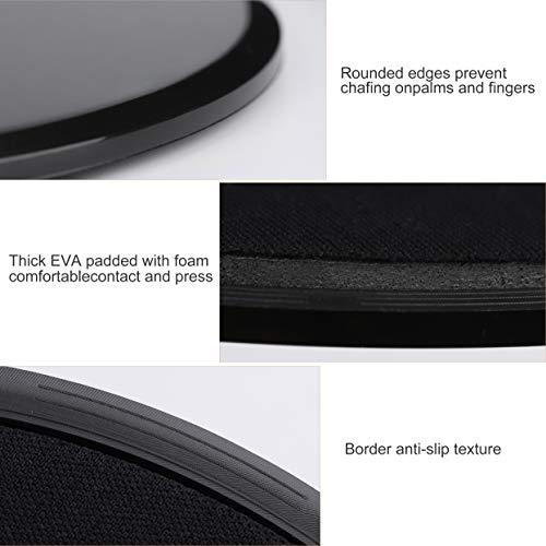 Heveer Discos de Deslizamiento Core Sliders Fitness Discos Deslizantes Ejercicios de Doble Cara para Uso en Alfombra y Pisos Duros 2 Piezas Negro