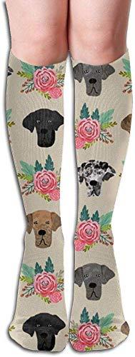 hgdfhfgd Great Dane Flora Compression Socks,Knee High Compression Sock for Women & Men - Best for Running,Athletic Sports,Crossfit,Flight Travel Trend 2019