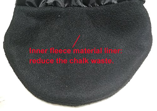 Hipier Bolsas de magnesio Escalada para Boulder Levantamiento de Pesas Alpinismo Chalk Bag Climbing con Cremallera, Correa de Cintura (Negro)