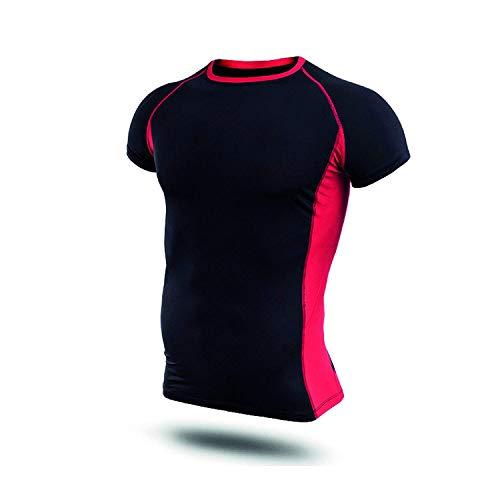 Hivexagon Camisetas de Fitness Compresión Ropa Deportiva Manga Corta Hombre para Gimnasio Ejercicio SM100REM