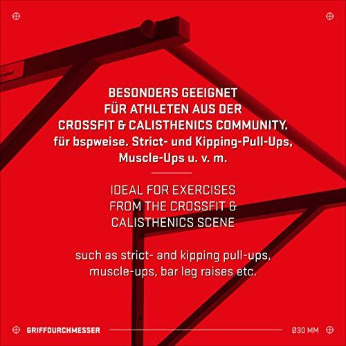 Hold Strong Fitness - Barra de Dominadas para Cross-Training, con Homologación para Gimnasio Conforme a EN 957
