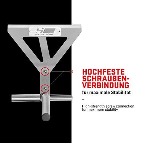 Hold Strong Fitness - Sujeción Fuerte, Techo Montado Pull-up Bar con 6Posiciones de Agarre, Acero Inoxidable