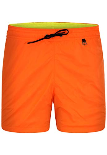 HOM - Hombres - Beach Boxer 'Sunlight' - Pantalones Cortos de Moda en Colores de Moda - Mandarine Orange - S