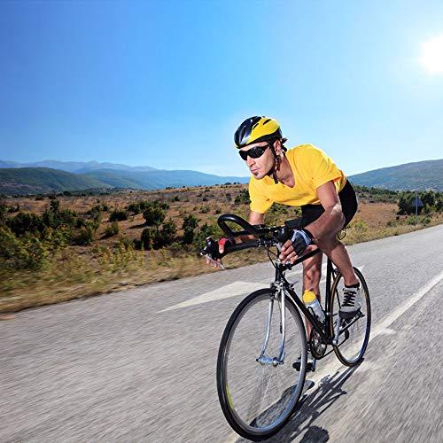 Hombre Bicicleta Ciclismo Ropa Interior Pantalones Cortos, 4D Gel Acolchado, lástica, Ligera y Transpirable, MTB Unisexo (Rojo, XXL)