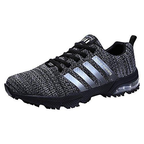Hombre Zapatillas de Correr Casual para Deportivas de Malla Zapatillas Antideslizantes Zapatillas Ligeras Negro 39