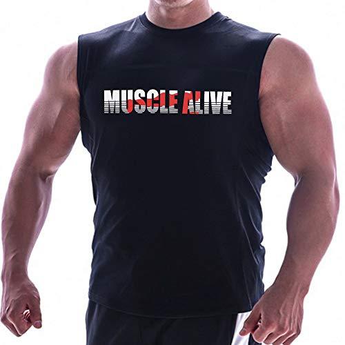 Hombres Esencial Músculo Sin Mangas Camiseta con Personal Cuello para Culturismo Camisetas sin Mangas Camisetas Algodón