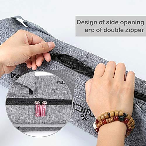 HomdMarket Bolsa de Estera de Yoga Bolsas de Transporte Cubierta de Lona Impermeable con Bolsillos para Equipo de Yoga Bolsa de 72 cm Correa Ajustable y Larga, fácil Acceso