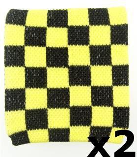 Home & Leisure Online - Muñequeras, Color Amarillo y Negro (2 Unidades)