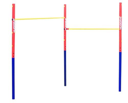 Hudora 64002 100kg Azul, Rojo, Amarillo Barra dominada - Barras de tracción (100 kg, Azul, Rojo, Amarillo, Acero, 5 cm, 1540 mm, 2410 mm)