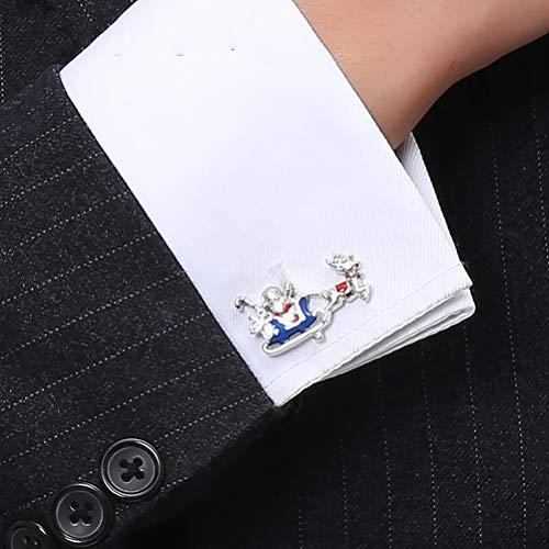 Icufflink Gemelos para Hombres, El Trineo De Santa Claus Navidad Elk Interesante Botones Francés, Gran Don Classic Shirt Accesorios Traje De Boda Negocios Jefe Contable Una Ocasión Formal.
