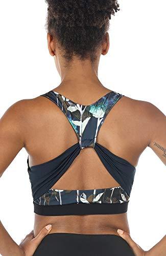 icyzone Workout Yoga Sujetador Deportivo Ejercicio Fitness Ropa Interior para Mujer (M, Loto)