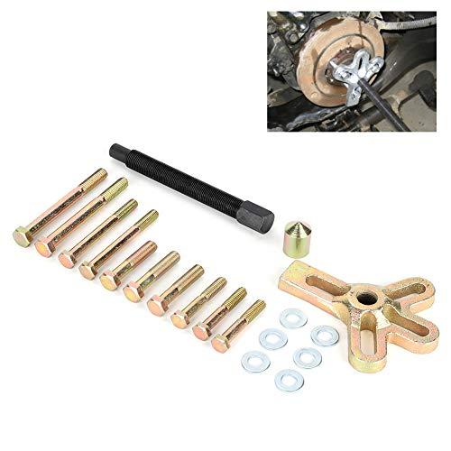 iFCOW Herramienta para Quitar El Volante Kit de Reparación de Automóviles Kit de Extractor Mantenimiento de La Polea Del Cigüeñal (13 Piezas)