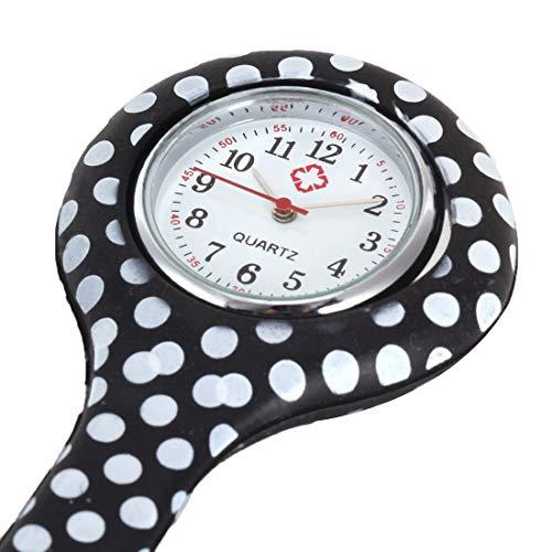 Indumentaria Femenina Enfermera del silicón con Clip del Fob de la Broche de Solapa del Reloj Colgante de Bolsillo (Color : 7)