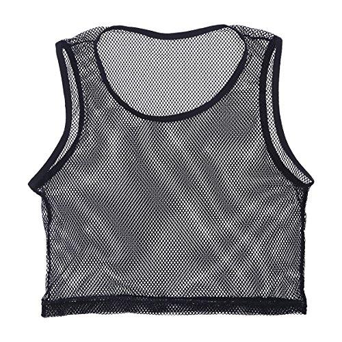 Inlzdz - Chaleco de malla para hombre, ajustado, ajustado, para musculación, ropa deportiva Negro Negro ( L