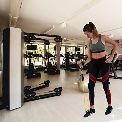InnoTi Bandas Elásticas de Musculación y Fitness - Gomas Elásticas para Crossfit y Gimnasio en Casa - Set de Tubos de Resistencia de Latex - Asas y Cintas de Tobillos Acolchadas y Anclaje de Puerta