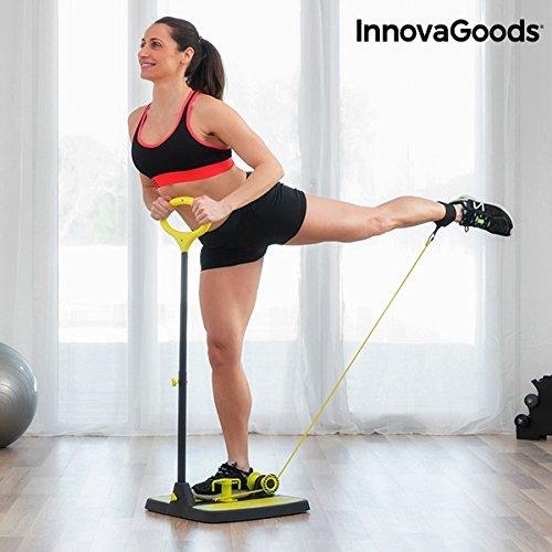 InnovaGoods IG117209 Plataforma de Fitness, Unisex Adulto, Negro/Amarillo, Talla Única