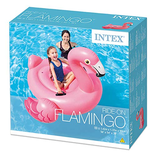 Intex 57558NP - Flamenco hinchable 142x137x97 cm