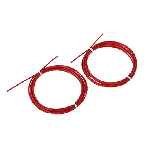 IPOTCH 2pcs Cable de Repuesto para Cuerda de Salto, Accesorios para Ejercicios de Combas - Rojo