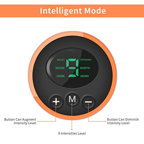 iThrough Electroestimulador Muscular Abdominales, EMS Estimulador Muscular Abdominales Cinturón, ABS Estimulador Muscular USB Recargable para Bdomen/Brazo/Piernas/Glúteos,Almohadillas de Gel 16pcs