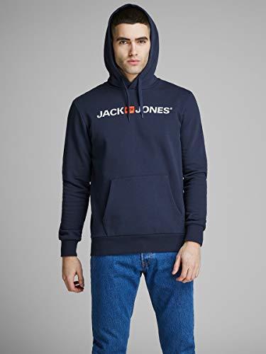 Jack & Jones Jjecorp Logo Sweat Hood Noos Capucha, Azul (Navy Blazer Detail: Reg Fit), Medium para Hombre