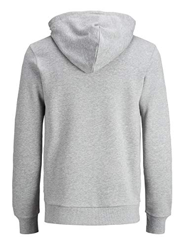 Jack & Jones Jjecorp Logo Sweat Hood Noos Capucha, Gris (Light Grey Melange Detail:Reg Fit - Melange), Large para Hombre