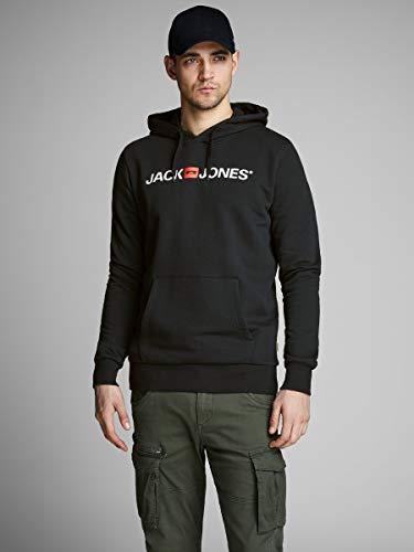 Jack & Jones Jjecorp Logo Sweat Hood Noos Capucha, Negro (Black Detail:Reg Fit), X-Small para Hombre