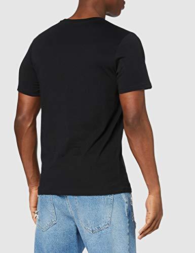 Jack & Jones Jjecorp Logo tee SS Crew Neck Noos Camiseta, Negro (Black Detail: Slim Fit), Medium para Hombre