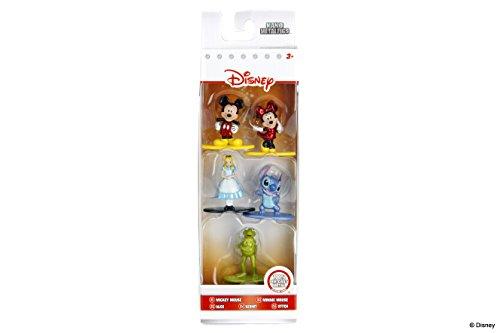 Jazwares-Nano METALFIGS Disney Pixar - Pack de 5 Figuras (Mickey Minnie Alice Kermit Stitch), 98668